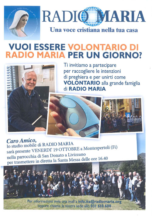Locandina Radio Maria