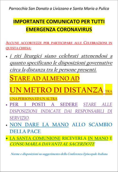 Comunicato emergenza virus